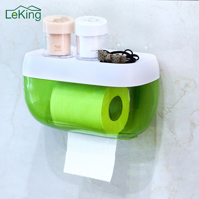 Leking Waterproof Toilet Paper Holder Bathroom Kitchen Accessories Convenient Tissue Roller Box Wall Mounted
