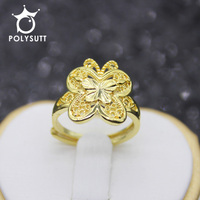 Hot Sale New Butterfly Gold Color Classic Beautiful Butterfly Engagement Rings opening ring Adjustable Size Exquisite