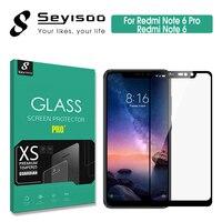100% Original Seyisoo Completa Capa de Proteção de Vidro Temperado Para Xiaomi Redmi Nota 6 Xiomi Redmi Nota 6 Pro Protetor de Tela|Protetores de tela de telefone| |  -