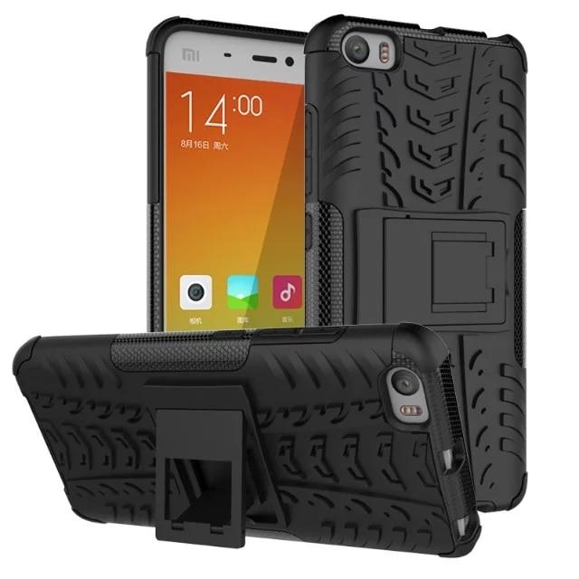 Для Xiaomi Mi5 Mi 5 M5 M 5 Чехол Гибридный Прочная Резиновая броня Жесткий PC + TPU 2 В 1 Стенд Функция Cover Чехлы Для Xiaomi 5