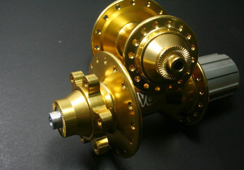 Vtt/route vélo moyeu Rival KDFS500/KDRS500 scellé roulement frein à disque 32 H 430g couleur or