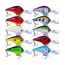 Купить с кэшбэком 1PCS New Wobbler Fishing Lure 90mm 11.1g Crankbait Minnow Peche Bass Trolling Pike Carp Fishing Everything for Fishing YG019
