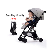 5 free gifts! directly boarded plane 3.6 kg fold mini light stroller travel cotton and lie material 52cm high landscape stroller