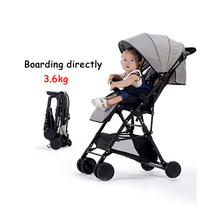 5 free gifts! directly boarded plane 3.6 kg fold mini light stroller travel cotton and lie material 52cm high landscape