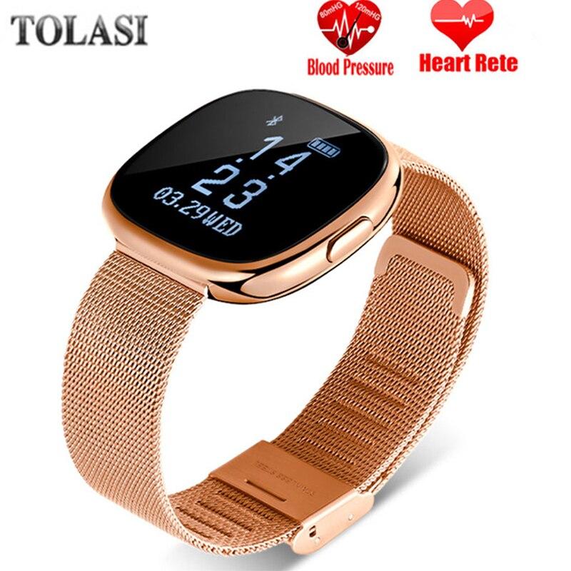 Женские Smart Watch H2 плюс металлический ремешок Bluetooth наручные мужские умные браслеты поддержка sim-карты TF Android и IOS часы на нескольких языках