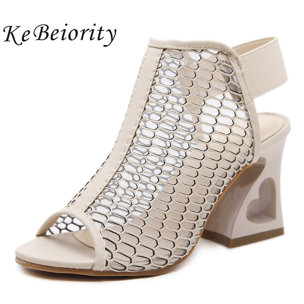 KEBEIORITY Thick High Heels Sandals Women Summer Shoes Open Toe Gladiator Sandals Women Party Wedding Shoes Sexy 2018 aiykazysdl summer women sandals thick