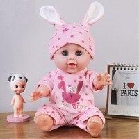 Lol Reborn Intelligent Early Education Voice Bathing Soft Glue Simulation Baby Cloth Doll Sleeping Baby Appease Girl Dolls Toys