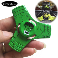 2 Style Choose The Avengers Hulk Fidget Spinner Cartoon Anime Hand Spinner Super Hero Tri Spinner