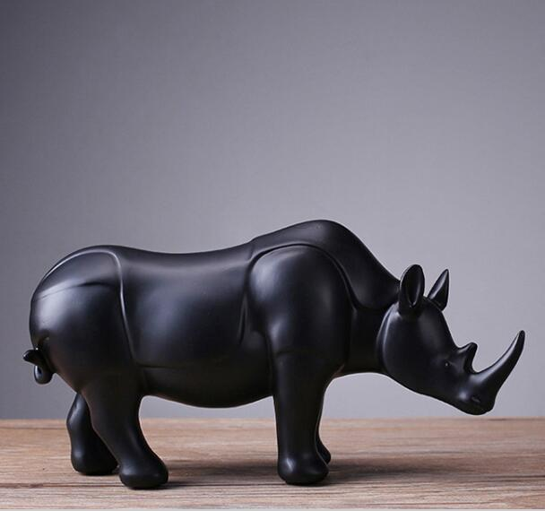The modern new Home Furnishing resin crafts decorative explosion rhino small ornaments factory direct gift statue sculpture