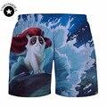 Горячая 2015 Новая Мода Женщины/мужская 3d шорты Животных Печатный Короткие штаны бегунов harajuku брюки