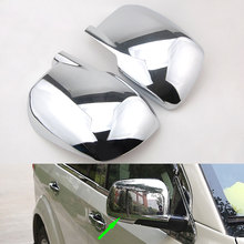 2pcs ABS Car Rear View Door Side Mirror Chrome Covers Trim Molding Fit For Jeep Dodge Journey 2009-2018 Car Styling Accessories stainless steel body door side molding trim chrome for 2009 2013 dodge journey