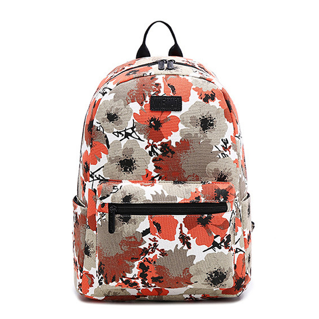 07f91a2f517a XIKEMADI бренд с цветочным принтом Для женщин школьная сумка рюкзак для  девочек-подростков рюкзаки холст