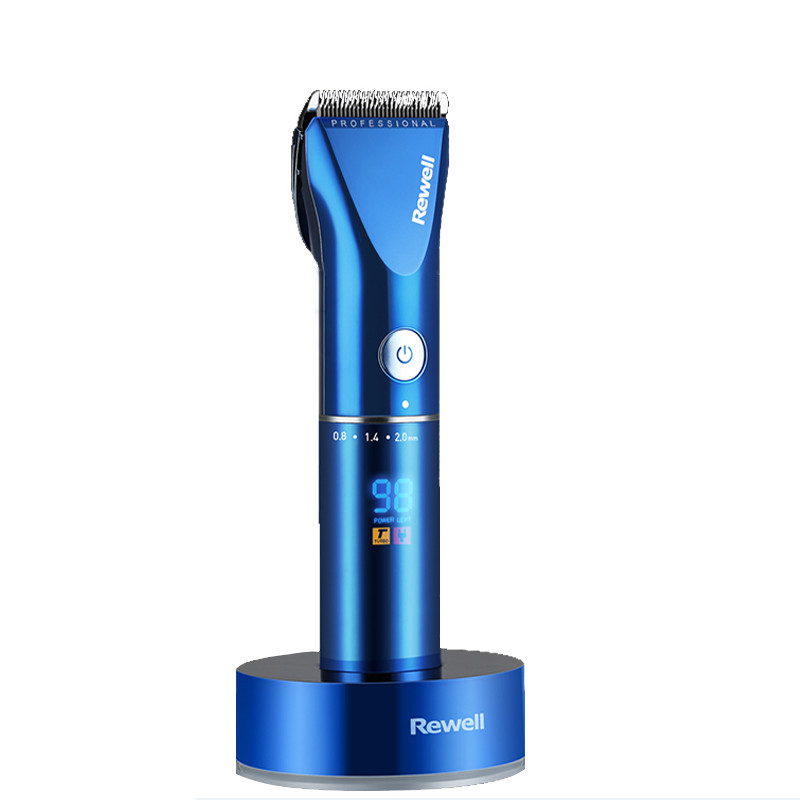 professional hair clipper rechargeable trimmer lithium battery Titanium alloy blade cutter adjustable comb Fine-tuning 100-240V