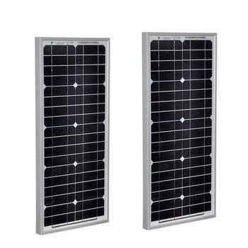 Solar Panel 12v 20w 2 PCs Solar Modules 40w 24v Solar Charger Battery Car Camp Caravan Motorhome Phone LED Lamp Light
