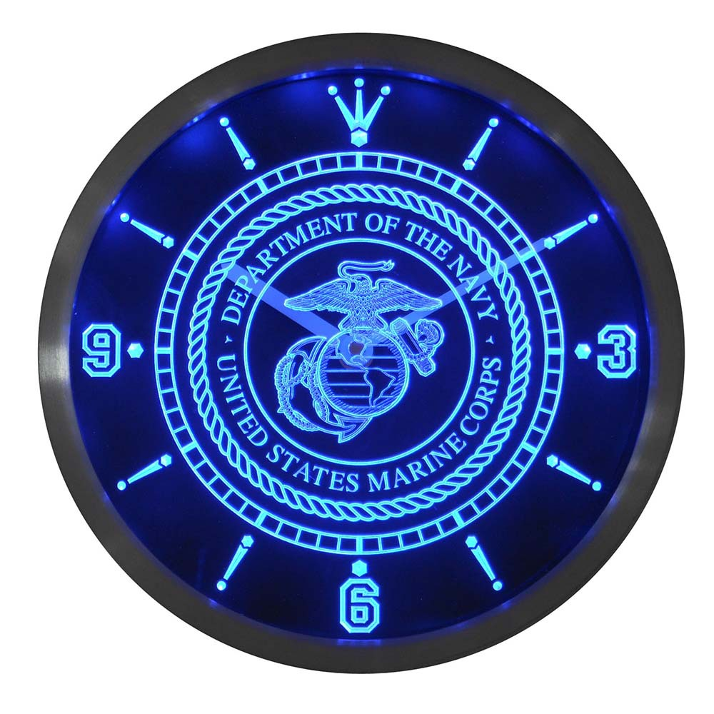 nc0210 US Marine Corp Military Neon Light Signs LED Wall Clocknc0210 US Marine Corp Military Neon Light Signs LED Wall Clock