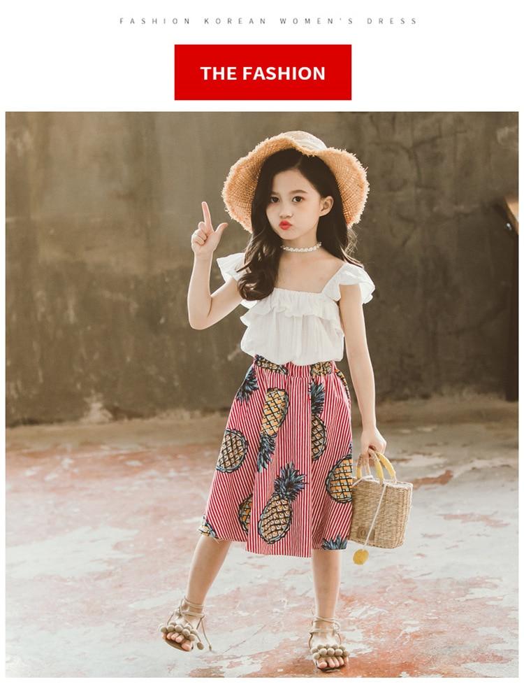 Moda roupas de verão da menina do