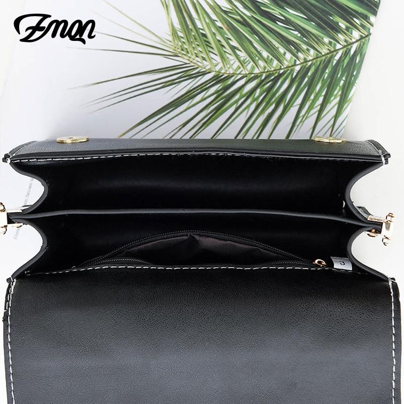 ZMQN Women Crossbody Bags 2018 Famous Brand Designer Shoulder Women Leather Bags For Summer Small Flap Soild Messenger bags B323