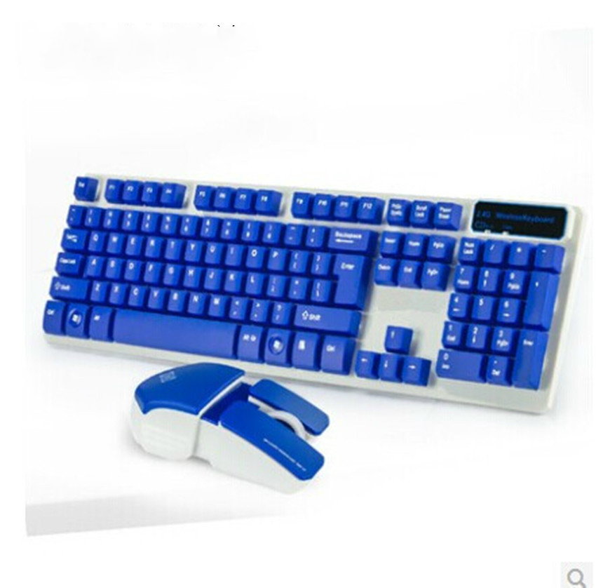 Wireless Gaming Keyboard Mouse Combo 1200 DPI USB Receiver Adapter Mouse Mat for DesktopLaptop