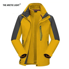 THE ARCTIC LIGHT Ski Jacket 2018 New Arrive High-quality Men Coat+lining 3 In 1 Outdoor Camping Hiking Waterproof Winter Snow