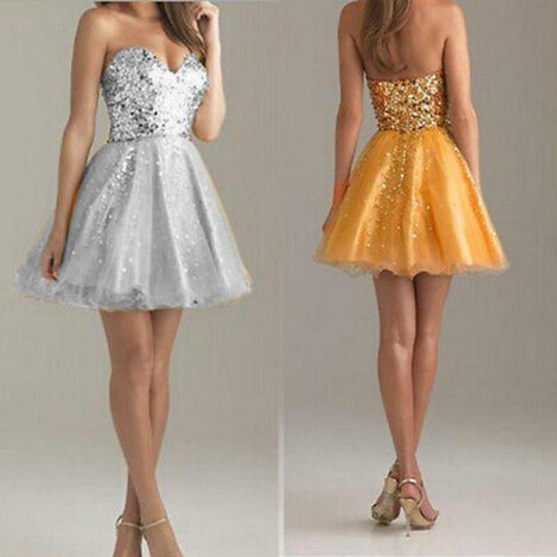 Короткие платья без бретелей