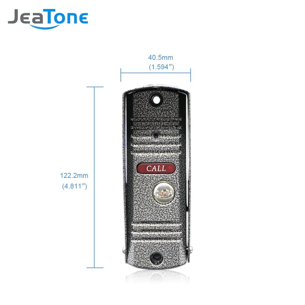 Купить с кэшбэком JeaTone Video Door Bell IR Camera 1200TVL Pinhole Lens Camera High Resolution Camera IP65 Waterproof