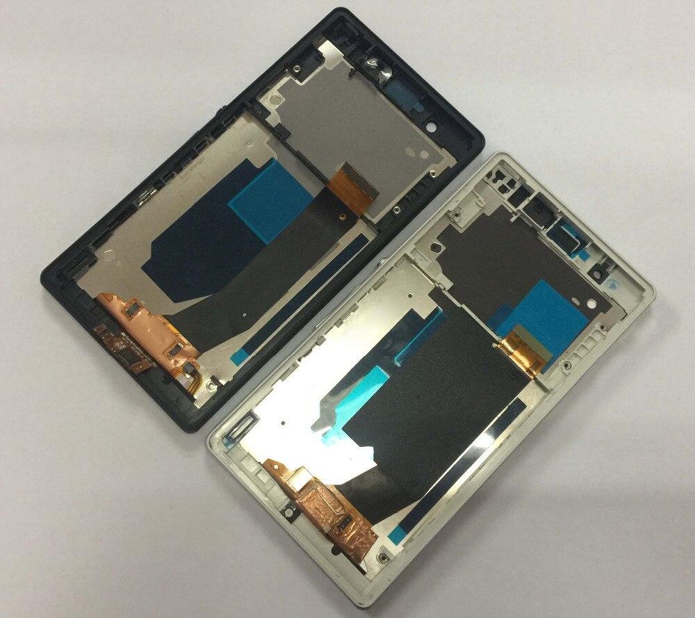 Para Sony Xperia Z C6603 Display LCD Painel da Tela de Toque Digitador Assembléia com Moldura de Substituição para C6606 C6602 C6601 L36h l36i