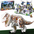 Hot movie Dino World dinosaur Park base Tyrannosaurus Rex Get away building block compatible lepins toys for kids gifts