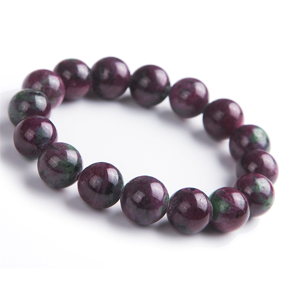 13mm Genuine Natural  Zoisite Gem Stone Crystal Round Bead Stretch Charm Bracelets For Women13mm Genuine Natural  Zoisite Gem Stone Crystal Round Bead Stretch Charm Bracelets For Women