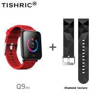 TISHRIC Q9 Smart Bracelet Waterproof Sport Heart Rate Monitor Pedometer Women Men Fitness Tracker Smart Watch 5 Color Wristband