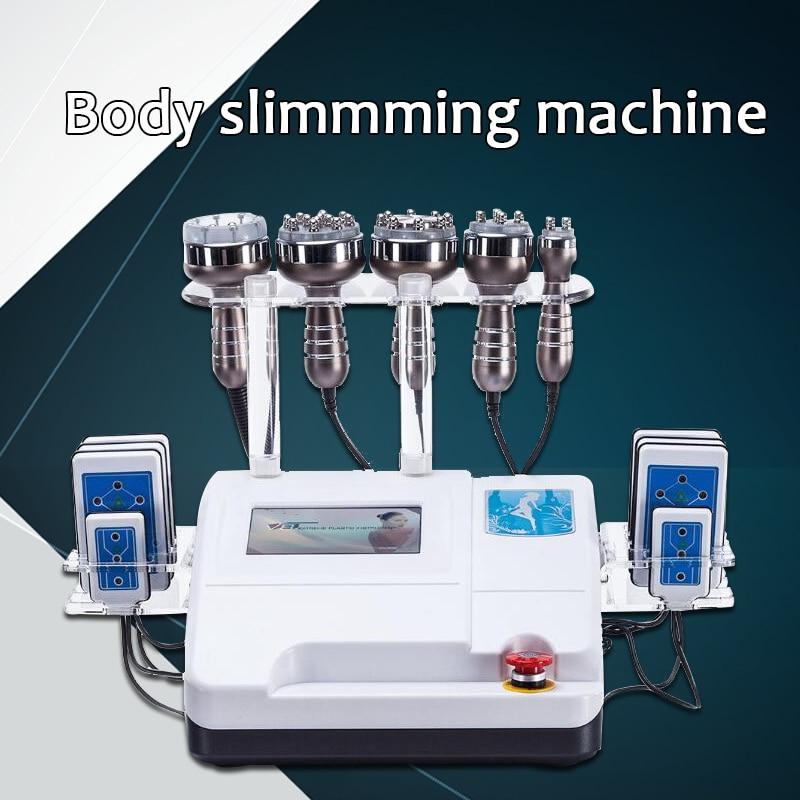 2019 New Latest Model 6in1 RF 2020 New Vacuum Lipo   Laser Cavitation Body Shaper Weight Loss Slimming Machine SPA