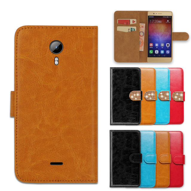 Wallet Case for Micromax Q480 Canvas Pace 2  Luxury Jewelled Book Cover Leather Special Phone Case