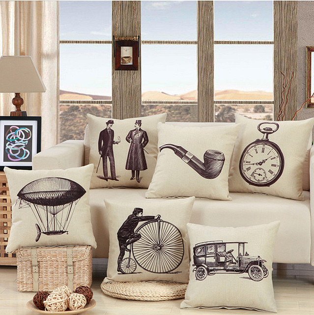 aliexpress : buy vintage british gentleman pipe pillow cover