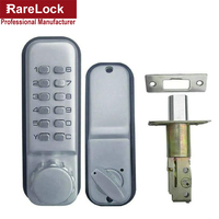 LHX All Weather Digital Password Code Pushbutton Stain Chrome Mechanical Keyless Deadbolt Door Lock A
