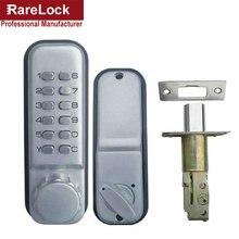 LHX Всепогодный Цифровой Пароль Код Кнопка Пятно Chrome Механическая Keyless Ригель Замка Двери в