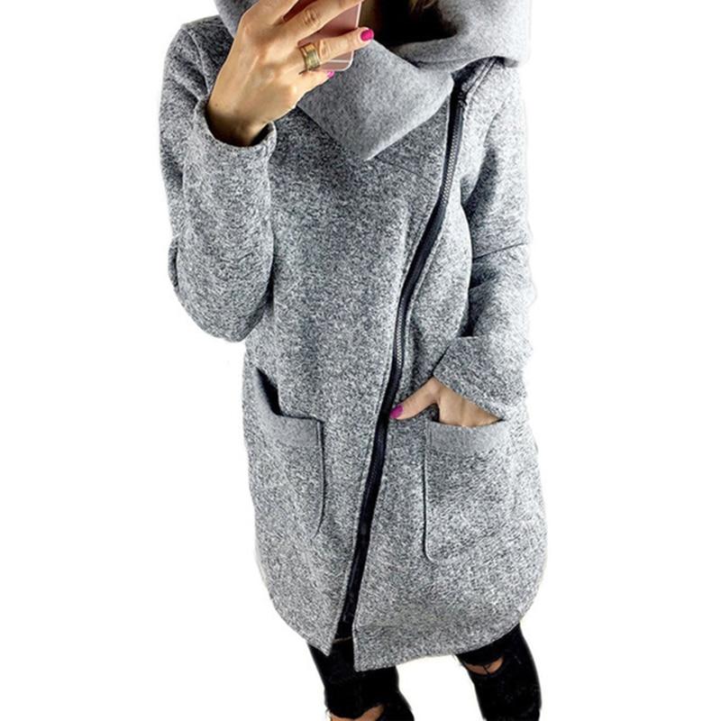 Autumn Winter Plus Size 5XL Women Bomber   Basic     Jacket   Pocket Zipper Hooded Outwear Casual Loose Windbreaker Coat WS2749V