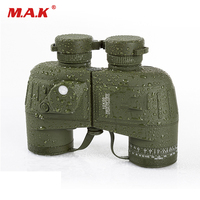 10x50 Binoculars Navy Telescope Waterproof Fogproof HD Rangefinder Compass Reticle Illuminant Night Vision For Hunting