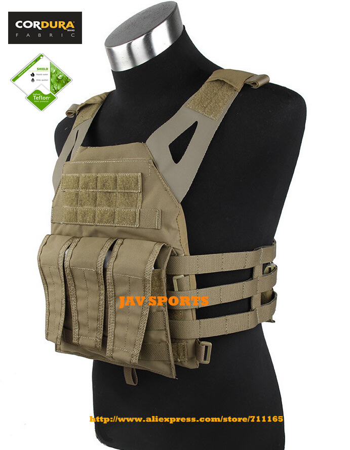 TMC Jump Plate Carrier Matte Coyote Brown MOLLE Tactical Plate Carrier Vest+Free shipping(SKU12050395) tmc vest 94k m4 pouch plate carrier tactical military vest matte coyote brown free shipping sku12050549