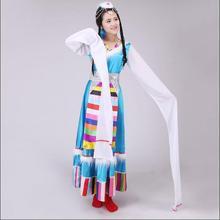 Dance clothes Costume Tibetan gowns dress Women clothing Tibetan