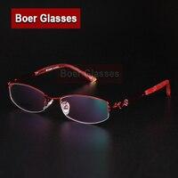 ef874ece98 New Half Rim Rectangle Women  39 s Eyeglasses Stainless Steel glasses  prescription eyewear RXable 6289 size 49-18-131