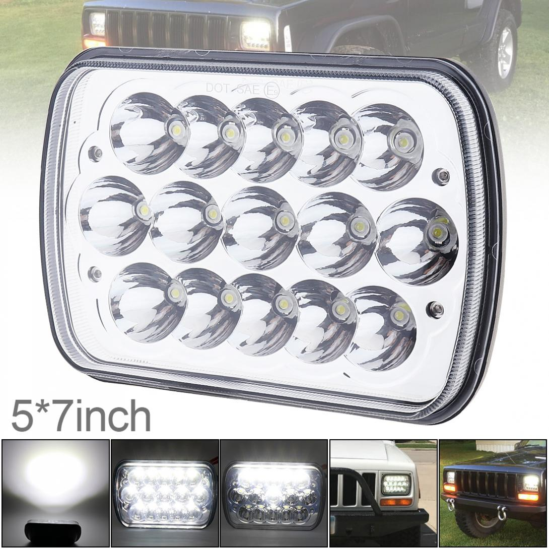 5X7 7X6 Inch Rectangular Car LED Headlights Headlamp for Jeep Wrangler YJ Cherokee XJ Trucks 4X4 Offroad Head Light