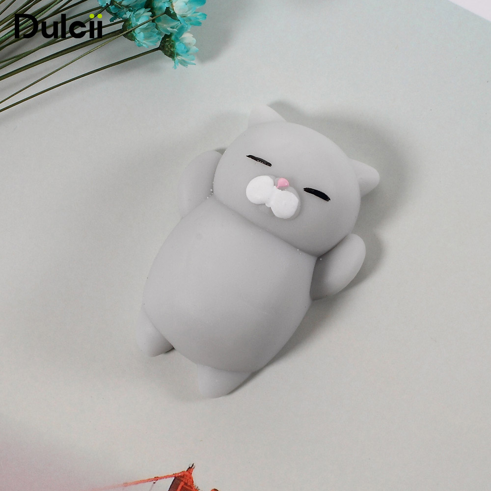 Mobile Phone Cases DIY Accessories Parts Silicone Gadgets Squishy Fidget Hand Rising Animal Squeeze Pinch Toy - Cute Rabbit/ Cat