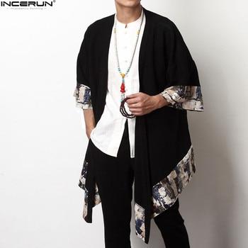 INCERUN chino de los hombres Vintage chaqueta-Cintura tres cuartos ...