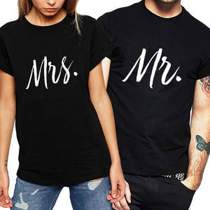 884538ab AOJUN 2018 Couples T-shirts Wife T Shirts Matching Gift