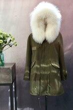 Arlene sain womenFur couples in long fox collars bladder female parka hooded fur coat free shipping 226