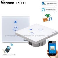 Sonoff T1 EU 1 2 Gang Wifi Smart Switch Smart Home Automation 433MHZ Touch WiFi RF