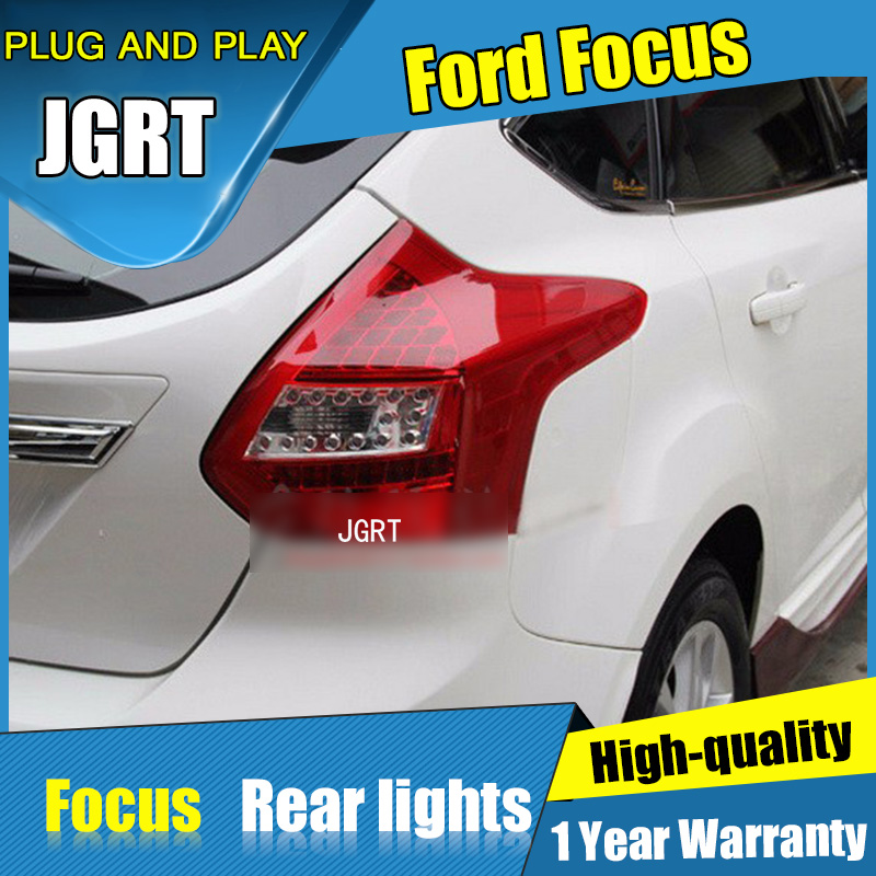 2PCS Car Styling for Ford Focus Taillights 2012-2014 for Focus LED Tail Lamp+Turn Signal+Brake+Reverse LED light boomboost 2 pcs car led for ford new focus 2012 2014 daytiime running lights car styling