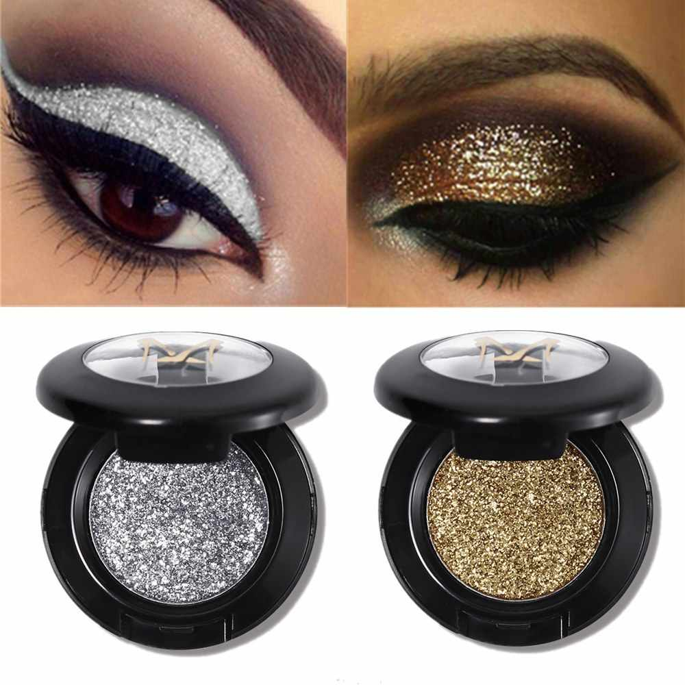 28 Kleur Pressed Glitter Oogschaduw Glans Pigment Make Palet Shimmer Metal Single Oogschaduw Illuminator Eye Make Up Cosmetica