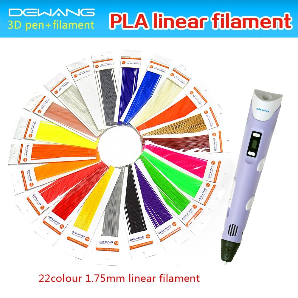 DEWANG 3D Printing Drawing Art Pen For Kids Painting Pen With Free 220 Meters 22 Colors PLA Filament Cheap 3D Pen