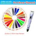 Dewang impresión 3d dibujo art pen para niños pintura pluma con Conexión 220 Metros 22 Colores Filamento del PLA 3D Barato pluma