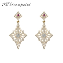 Personality Trend Shaped High-quality Empress Aristocratic Party Wedding Earrings Copper Zircon Jewelry Accessories недорго, оригинальная цена